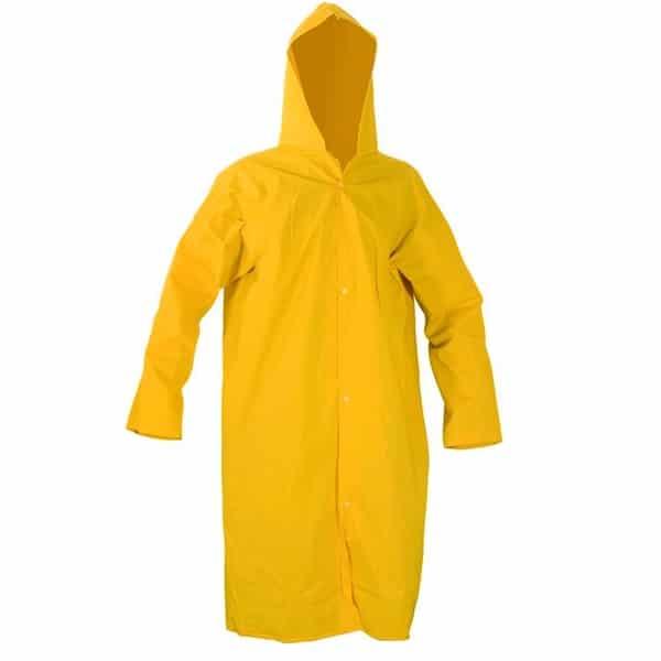 Capa de Chuva com Capuz Forrada Amarela - Plastcor