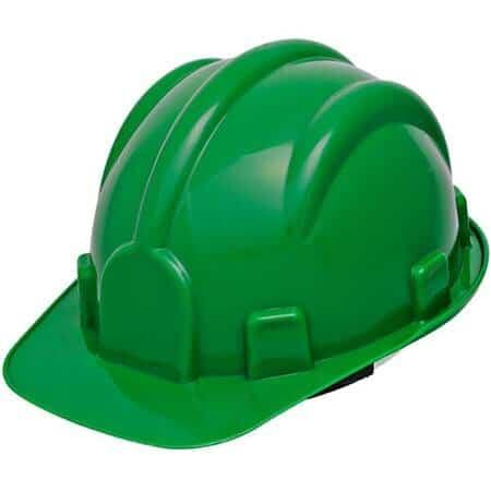 Capacete de Segurança Aba Frontal com Jugular Verde Escuro