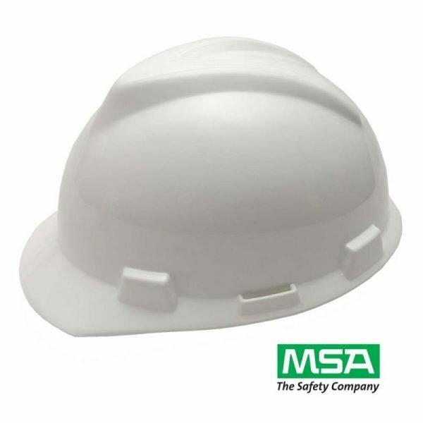 Capacete de Segurança Aba Frontal com Jugular Branco V-Guard - MSA