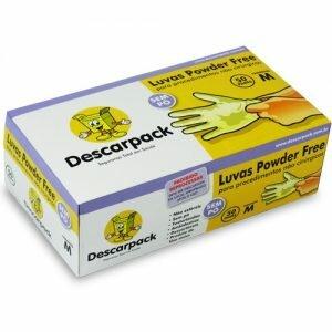 Luva de Procedimento Descartável Latex Sem Talco Powder Free - Descarpack