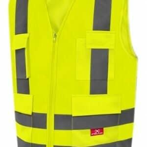 d97a956990642 Coleto Refletivo com 4 Bolsos Amarelo Fluorescente Steelflex