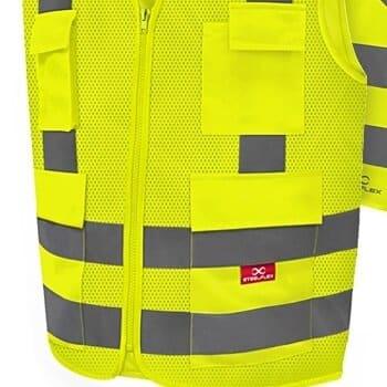 Coleto Refletivo com 4 bolsos Amarelo Fluorescente - Steelflex