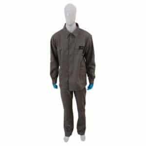 5978dcff6f Uniforme para Eletricista NR 10 Cinza Calça e Camisa Maicol CA 38765