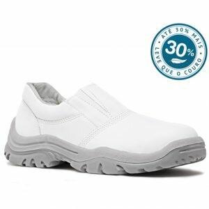 Sapato de ElásticoBranco em Microfibra