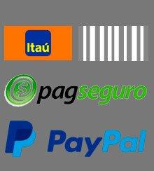 Itaú Boleto PagSeguro Paypal